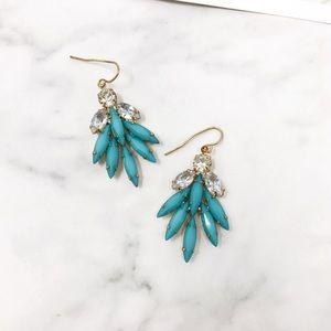 4/$25 • ONLY 1 Robbin Blue Rhinstone Drop Earrings